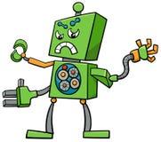 Carattere di fantasia del robot del fumetto Fotografie Stock Libere da Diritti