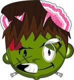 Carattere di Frankenstein dello zombie del fumetto illustrazione di stock