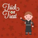 Carattere di Halloween una ragazza in costume tradizionale mago di Oz t illustrazione vettoriale