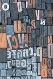 Carattere di lettere della stampa di alfabeto come modello illustrazione di stock