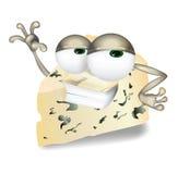 Carattere di risata, sveglio e divertente del personaggio dei cartoni animati del formaggio di vettore fresco del roquefort, di G royalty illustrazione gratis