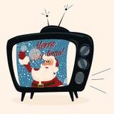 Carattere di Santa. Illustrazione di vettore del fumetto. Fotografia Stock