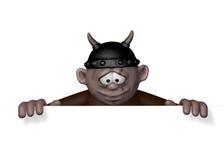 Carattere di Viking con il casco - rappresentazione 3d Fotografia Stock