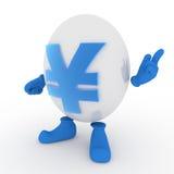 Carattere di Yen giapponesi Immagini Stock