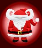 Carattere divertente del Babbo Natale Immagine Stock