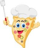 Carattere divertente del cuoco unico della pizza del fumetto Immagini Stock