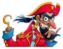 Carattere divertente del pirata Immagini Stock