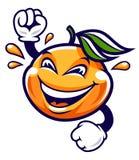 Carattere divertente di vettore del mandarino del fumetto royalty illustrazione gratis