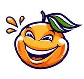 Carattere divertente di vettore del mandarino del fumetto illustrazione vettoriale