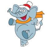Carattere divertente di vettore dell'elefante su un bianco Fotografie Stock