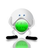 Carattere FAQ e 3D Fotografie Stock