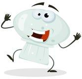 Carattere felice del fungo del fumetto Fotografia Stock Libera da Diritti