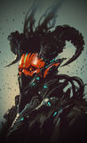 Carattere futuristico, demone robot royalty illustrazione gratis