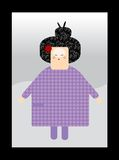 Carattere giapponese del feminin Immagini Stock Libere da Diritti