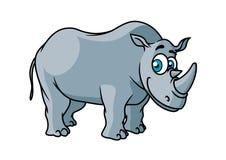 Carattere grigio di rinoceronte del fumetto Immagini Stock