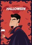 Carattere Halloween felice di Dracula di vettore Fondo del manifesto Royalty Illustrazione gratis