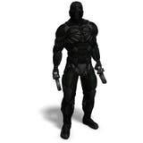 Carattere maschio della fantascienza in vestito futuristico Immagini Stock Libere da Diritti