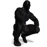 Carattere maschio della fantascienza in vestito futuristico Immagine Stock Libera da Diritti