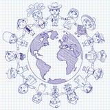 Carattere multiculturale illustrazione vettoriale