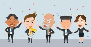 Carattere piano di concetto dei vincitori di società di affari Immagini Stock Libere da Diritti