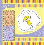 Carattere Polly Bambina con la corda di salto Immagine Stock Libera da Diritti