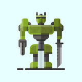 Carattere robot futuro dell'icona dell'elemento di progettazione futuristica del giocattolo e del cyborg di scienza del robot del illustrazione di stock