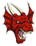Carattere rosso del drago Fotografia Stock