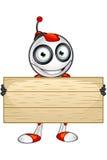 Carattere rosso e bianco del robot illustrazione di stock