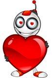Carattere rosso e bianco del robot royalty illustrazione gratis