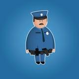Carattere sveglio del poliziotto Immagini Stock