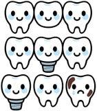 Carattere sveglio del trattamento dentario illustrazione di stock