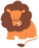 Carattere sveglio dell'animale del leone Fotografia Stock Libera da Diritti