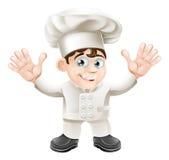 Carattere sveglio della mascotte del cuoco unico Fotografia Stock