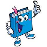 Carattere sveglio della mascotte del libro del fumetto un'istruzione e raggiro di apprendimento Immagini Stock Libere da Diritti