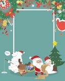 Carattere sveglio di Natale con copyspace Immagine Stock Libera da Diritti