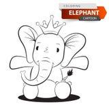 Carattere sveglio e divertente dell'elefante Illustrazioni per la stampa sulle magliette illustrazione vettoriale