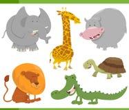 Caratteri animali di safari messi Fotografia Stock Libera da Diritti