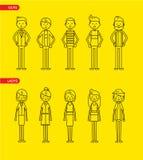 Caratteri casuali dell'insieme per uso nella progettazione Fotografie Stock Libere da Diritti