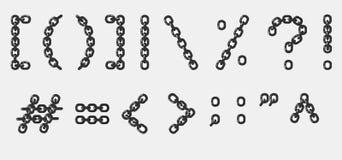 Caratteri Chain - formato dei cdr Fotografie Stock Libere da Diritti