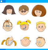 Caratteri dei bambini del fumetto messi Fotografia Stock