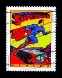 Caratteri dei fumetti - superman, serie dei supereroi del libro di fumetti, circa 1995 Fotografia Stock Libera da Diritti