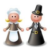 caratteri del pellegrino di ringraziamento 3d royalty illustrazione gratis