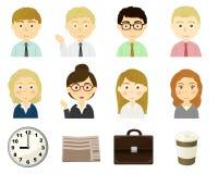 Caratteri del tema della persona di affari illustrazione vettoriale