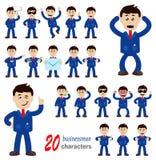 20 caratteri dell'uomo d'affari illustrazione vettoriale