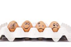Caratteri dell'uovo Immagine Stock Libera da Diritti