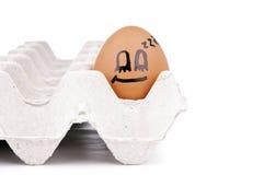 Caratteri dell'uovo Fotografia Stock Libera da Diritti