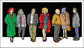 Caratteri della gente illustrazione di stock