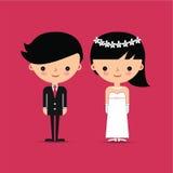 Caratteri della sposa e dello sposo Royalty Illustrazione gratis