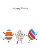 Caratteri delle uova di Pasqua Fotografia Stock