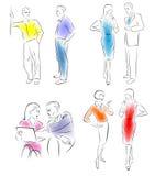 Caratteri di conversazione dell'illustrazione. Immagine Stock Libera da Diritti